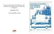 Cover for Increased Automobile Fuel Efficiency and Synthetic Fuels: Alternatives for Reducing Oil Imports