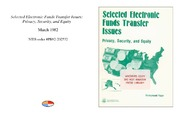 Cover for Selected Electronic Funds Transfer Issues: Privacy, Security, and Equity
