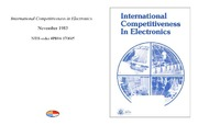 Cover for International Competitiveness in Electronics