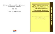 Cover for The Safety, Efficacy, and Cost Effectiveness of Therapeutic Apheresis