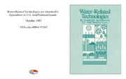 Cover for Water-Related Technologies for Sustainable Agriculture in U.S. Arid/Semiarid Lands