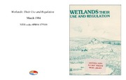 Cover for Wetlands: Their Use and Regulation