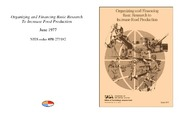 Cover for Organizing and Financing Basic Research To Increase Food Production