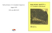 Cover for Railroad Safety - U.S.-Canadian Comparison