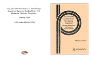 Cover for U.S. Disaster Assistance to Developing Countries: Lessons Applicable to U.S. Domestic Disaster Programs
