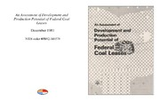 Cover for An Assessment of Development and Production Potential of Federal Coal Leases