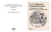Cover for U.S. Industrial Competitiveness: A Comparison of Steel, Electronics, and Automobiles