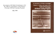 Cover for Assessment of Oil Shale Technologies - Vol. II: A History and Analysis of the Federal Prototype Oil Shale Leasing Program