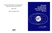 Cover for Nuclear Proliferation and Safeguards: Appendix Volume II, Part One