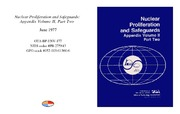 Cover for Nuclear Proliferation and Safeguards: Appendix Volume II, Part Two