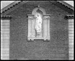 Wernersville 1931; Statue above Roof Garden (sideways on plate) (horizontal view)