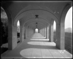 Wernersville 1931; under the cloister walk - westside, looking south