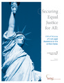 Cover for Securing Equal Justice for All: A Brief History of Civil Legal Assistance in the United States (2013)