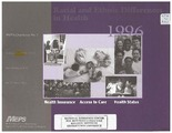 Cover for Racial and Ethnic Differences in Health, 1996: Health Insurance, Access to Care, Health Status