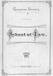 Cover of Georgetown Law Bulletin from 1889