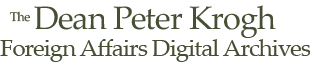 Dean Peter Krogh Foreign Affairs Digital Archives Logo